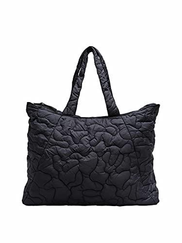SELECTED FEMME Damen SLFTOMINE Quilted Bag B Handtasche, Black, ONE Size