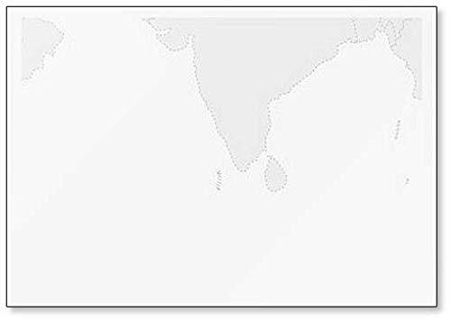Kaart van Azië met gemarkeerde Malediven Kaart Klassieke Koelkast Magneet