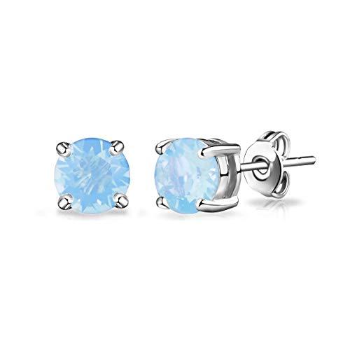 Air Blue Opal Earrings Created with Austrian Crystals