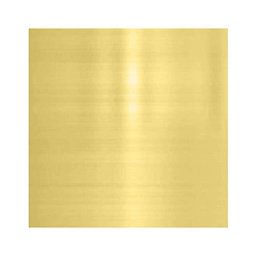 SHULI Placa de lámina de latón H62 Lámina de latón Puro Lámina de Cobre Lámina 300 mm (11,8 Pulgadas) x 300 mm (11,8 Pulgadas) Espesor,1.5mm