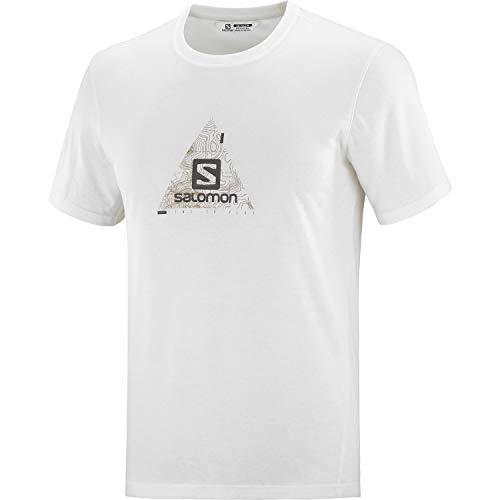 Salomon Herren Explore Blend Tee M Hiking Shirt, Wei߸, M EU