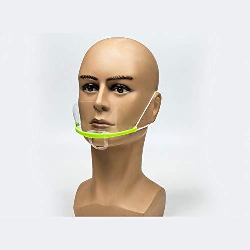 YUYUwa Salle à Manger Bouclier Visage 50 Pcs Vert Anti-buée Advanced Anti-Goutte réutilisation Anti-buée Chef Hôtel Baking, redimensionnable Transparent Protecteur Facial