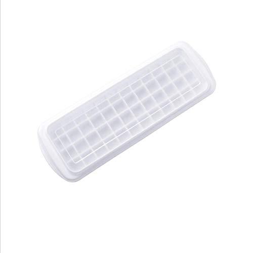 AOOA Eiswürfelform, 12/48/60 Gitter, Lebensmittelqualität, PP mit Deckel, selbstgemachter Kühlschrank, Aufbewahrungsbehälter, Küchenzubehör 48 Raster.