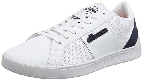 ellesse Herren Ls-80 Sneaker, Mehrfarbig (White/Dark Blue Wht/Dk Blu), 42 EU
