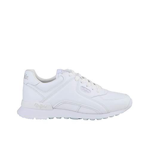 Buffalo Damen Sneaker Loke U, Frauen Low Top Sneaker, Ladies feminin elegant Women's Women Woman Freizeit Halbschuh Lady,Weiß(White),38 EU / 5 UK