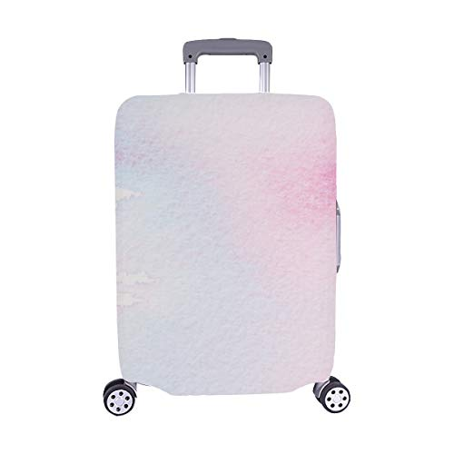 (Solo Cubrir) S Serenidad Cuarzo Rosa Tonos Pastel Maleta de Viaje Protector de Equipaje Maleta Cubierta Protectora para Protectora para 28.5 X 20.5 Inch