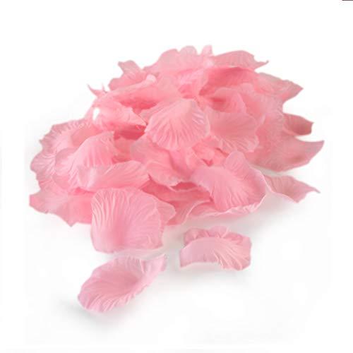 WeddingTree 2000 pétales de roses rose en vrac - Déco romantique pour mariages, Saint-Valentin, anniversaires ou soirées