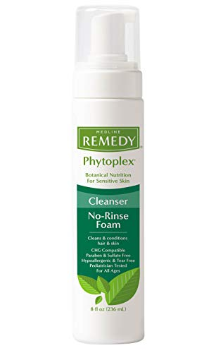 Medline - MSC092108 Remedy Phytoplex Hydrating Cleansing Foam, No-Rinse Body Wash and Shampoo, Sulfate-Free, 8 Fluid Ounce