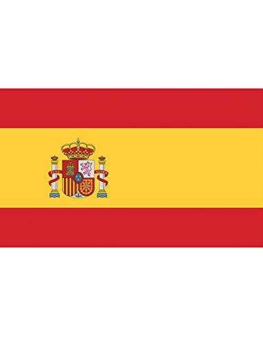"""TrendClub100® Fahne Flagge """"Spanien Spain ES"""" - 150x90 cm / 90x150cm"""