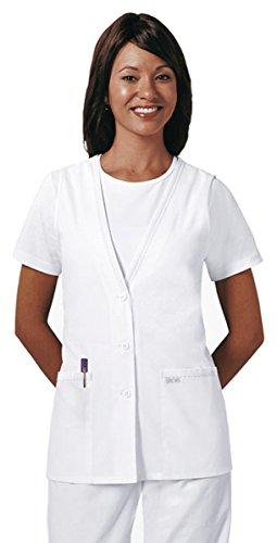 CHEROKEE Lace Trimmed Vest Chaqueta de Traje médico, Blanco, XXXL para Mujer