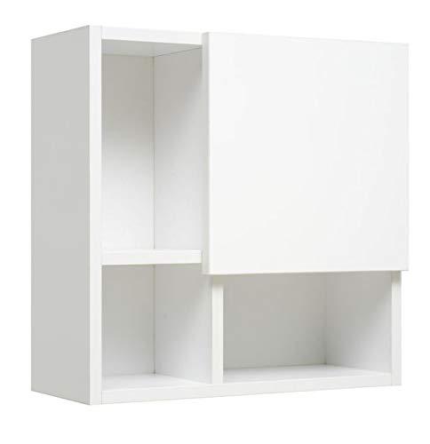 PELIPAL Neutrale Möbel Wandregal mit Tür Oben/EM-WRT 01-L/R/B: 45 cm