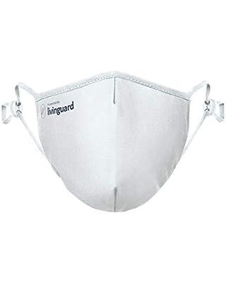 Livinguard – PRO MASK | 3-Lagige Gesichtsmaske | Verstellbar, Waschbar, Wiederverwendbar (White, S)