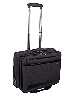 Elegant Cabin Travel Bag; 4 Wheel Softside Spinner Luggage Trolley with Laptop Case; Medium Travel Suitcase for Men Women...