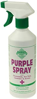 William Hunter Equestrian Barrier Purple Spray (500ml) - Antibacterial, antifungal, antiviral Spray for Wounds, cuts, abrasions Bites etc.