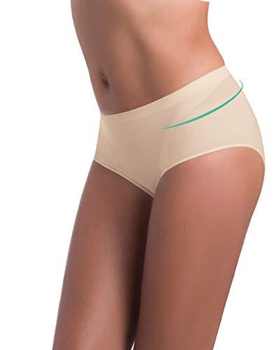 Mutande Contenitive Donna | Slip Modellante | Culotte Senza Cuciture | Bianco, Nero, Natural | S, M, L, XL, XXL | Made in Italy | (S/M, Naturale)
