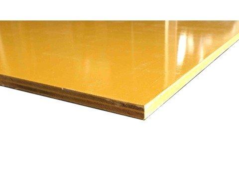 コンパネ(型枠用) ウレタン塗装【黄色】 12mm 600mm x 1800mm 1枚入り<P>