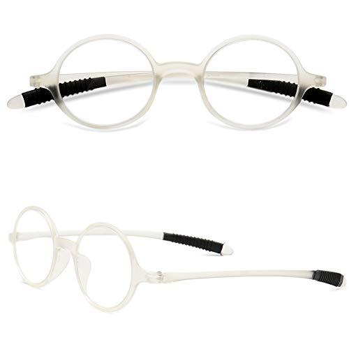 VEVESMUNDO Gafas de Lectura Mujer Hombre Vintage Redondo Flexibles Pequeñas Vista Presbicia 1.0 1.25 1.5 1.75 2.0 2.25 2.5 2.75 3.0 3.25 3.5 3.75 4.0