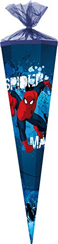 Familando Ultimate Spiderman Schultüte 85cm 6-eckig Durchmesser ca 25cm incl. Spitze Spon Blau