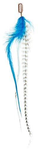 Featherlocks Statement Clips Ocean Lot de 3 plumes à fixer dans les cheveux