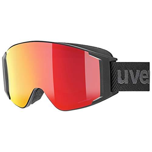 Uvex Unisex-Erwachsene g.gl 3000 TOP Skibrille, Black mat/red-Clear, Einheitsgröße