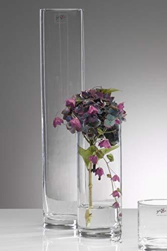 Glasvase Cyli zylindrisch klar 1 Stück 50 cm Ø 10 cm hot cut von Sandra Rich
