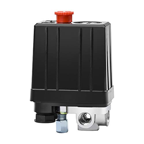 Winfred Compressore Aria Valvola di Pressione Interruttore del Compressore d aria, Pressostato a 4 Fori per Compressore Monofase, Interruttore di Controllo della Pressione del Compressore d aria