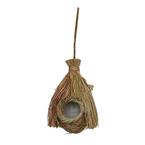 Eleusine Dekoratives Vogelhaus aus ländlichem Garten aus Holz, hängendes Vogelnest-Kolibri-Haus im Freien (Stil 2)