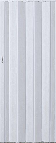 Falttür Schiebetür Tür weiß gewischt farben Höhe 202 cm Einbaubreite bis 96 cm Doppelwandprofil Neu TOP-Qualität pi-281