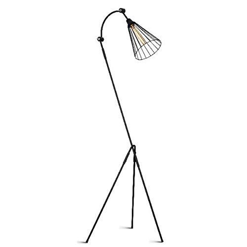 Homemania HOMAX_4646 - Lámpara de suelo Leonisper para interiores, suelo, color negro, de metal, 55 x 52 x 163 cm