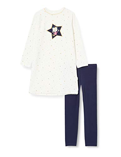 Schiesser Mädchen Nicki Cat Zoe Md Schlafanzug Lang Pyjamaset, Weiss, 104