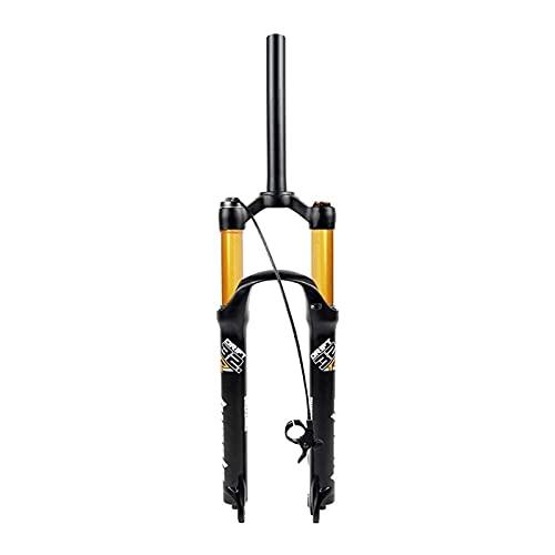 Horquilla de Bicicleta, Horquilla de suspensión MTB de Bicicleta de 26/27,5/29 Pulgadas, Horquillas neumáticas de aleación para Bicicleta de montaña para Bicicleta MTB XC Todo Terreno