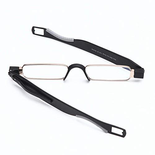 JJCFM Computer-Lesebrille, Blaulicht-schutzbrille, 360 ° Drehbare Ultraleichte Lesebrille Für Männer Und Frauenleichte, Flexible Brille Gegen Augenschmerzen Für,Schwarz,+1.50