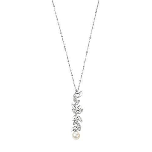 Morellato Collana da donna, Collezione GIOIA, in acciaio, perle coltivate, cristalli - SAER19