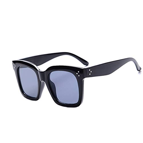 Gafas de sol deportivas, gafas de sol vintage, New Black Clear Oversized Square Sunglasses Women Gradient Summer Style Classic Sun Glasses Female Big Square Oculos De Sol Black Gray
