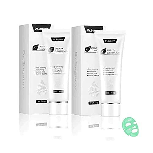 sohefia Green Tea Face Peeling Mask,Blackhead Remover Mask,Blackhead Peeling and Moisturizing Green Tea Mask,Soothe Irritated Skin Anti-Aging Reduces Fine Lines? Wrinkles (2 PCS)