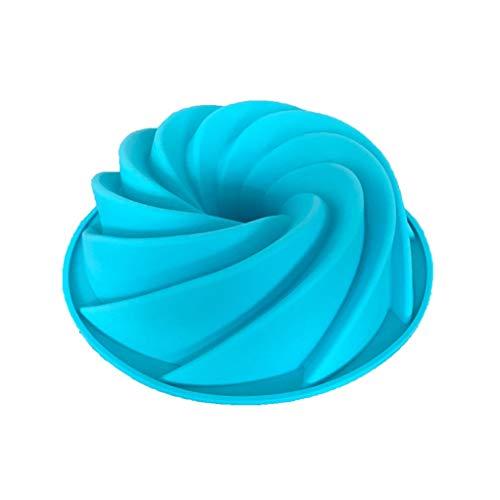 rongweiwang Molde de Silicona DIY Espiral Gasa Torta de la Galleta de Silicona para Hornear Herramienta Herramienta de Bricolaje para Hornear Galletas de la Torta 7.5inch Color al Azar