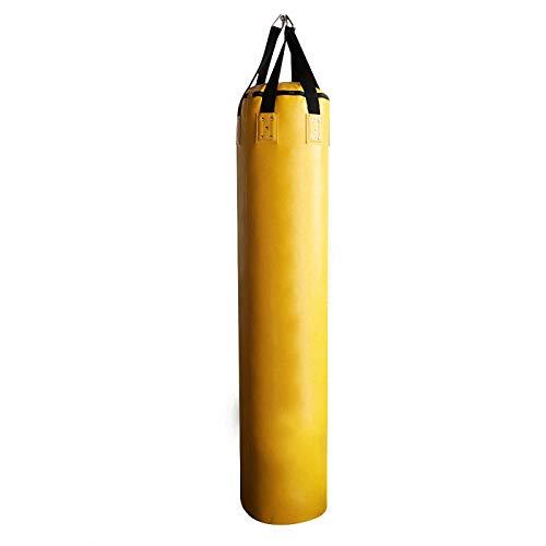 Saco de boxeo de cuero sintético pesado, saco de arena hueco para colgar con gancho y patada para combatir el saco de boxeo utilizado como equipo de boxeo en el hogar/gimnasio para adultos
