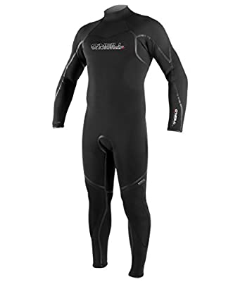 O'Neill Men's Dive Sector 3mm Back Zip Full Wetsuit, Black, XX-Large