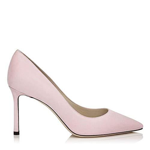Moda De Lujo | Jimmy Choo Mujer ROMY85SUEBALLETPINK Rosa Gamuza Zapatos Altos | Temporada Permanente