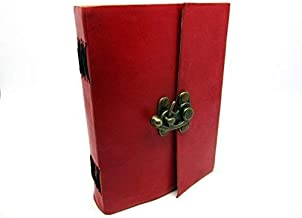 SKYLAND Leather Journal Notebook Book of Shadows Antique Handmade Handbook Blank Unlined Paper Office Diary College Book Poetry Book Sketch Book 6 x 4 Inches 6 x 4 Inches red