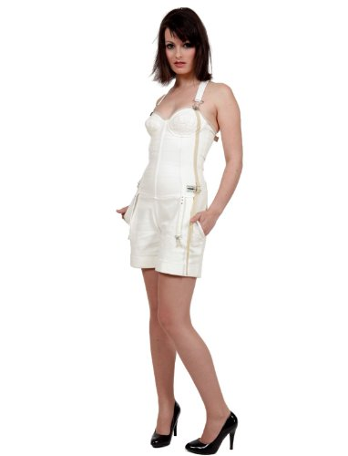 Diesel Jeans Overall Shorts Bustier Creme Synaptic (XS)