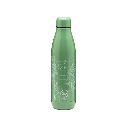 Quy Cup Zero. 500ml. Bottiglia termica Design italiano. Thermos in acciaio inossidabile a doppia parete. Sottovuoto e isolato. Per bevande calde e fredde.