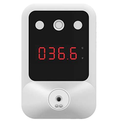 Mnsun Termómetro infrarrojo, termómetro clínico sin Contacto con Pantalla Digital de Montaje en Pared, Alarma Inteligente de Alta Temperatura de inducción instantánea de 0.5S, para oficinas, fábricas