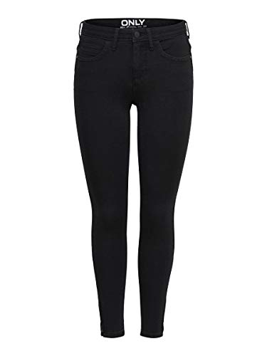 ONLY Damen Skinny Fit Jeans ONLKendell Eternal Ankle L30Black