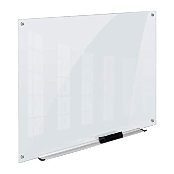 Amazon Basics Glass Dry-Erase Board - Frosted Non-Magnetic 4 Feet x 3 Feet