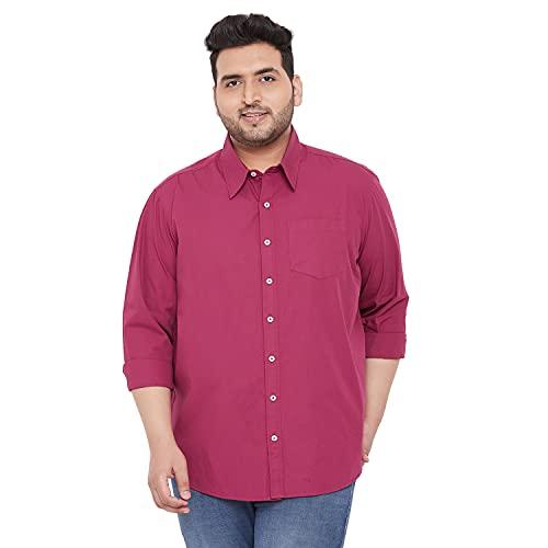 Bigbanana Plus Size Men's Solid Casual Shirt