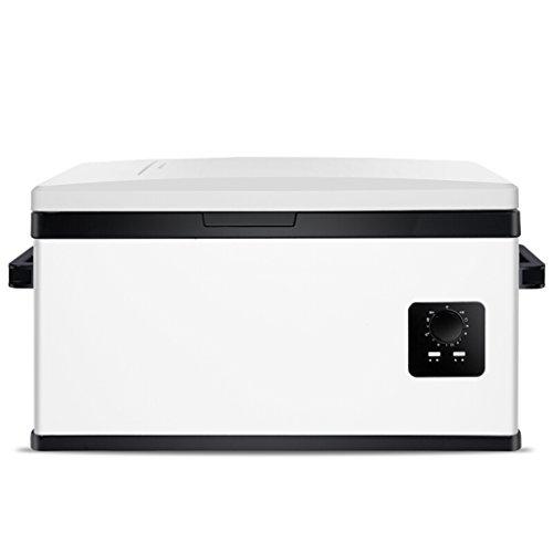 MMM La voiture et la maison portatives de congélateur de réfrigérateur de compresseur de réfrigérateur de voiture sont disponibles 12v / 24v / 220V @ (Couleur : Blanc-30L)