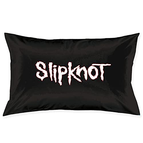 Slipknot - Funda de almohada cuadrada suave y decorativa, fundas de almohada de lujo para sala de estar, sofá dormitorio con cremallera invisible