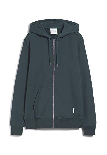 ARMEDANGELS JOAA - Herren Sweatjacke aus Bio-Baumwoll Mix XL Atlantic Green Sweatjacket Solid, Sweat Jacke Regular fit