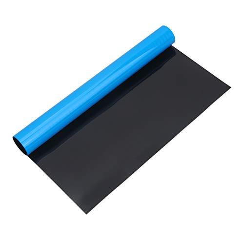 iplusmile Adesivo Acquario Sfondo Biadesivo Blu Mare/Fondo Nero per Acquario - 11. 8X20. 47 Pollici / 30X52 Cm
